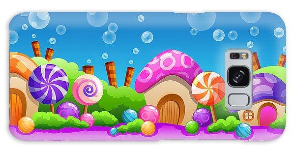 Horizontal Galaxy Case - Seamless Cartoon Fairy Tale Landscape by Juliyam