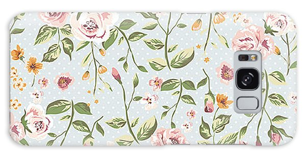 Dress Galaxy Case - Seamless Floral Pattern by Shmagamot