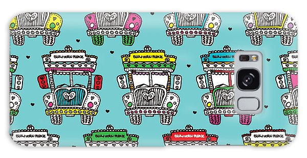 Old Road Galaxy Case - Seamless Icon Of India Road Colorful by Maaike Boot