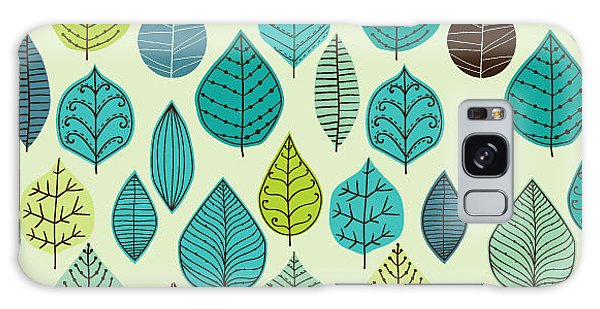 Branch Galaxy Case - Seamless Pattern On Leaves Theme by Markovka