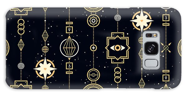 Spirituality Galaxy Case - Seamless Pattern With Stars And Magical by Leonid Zarubin