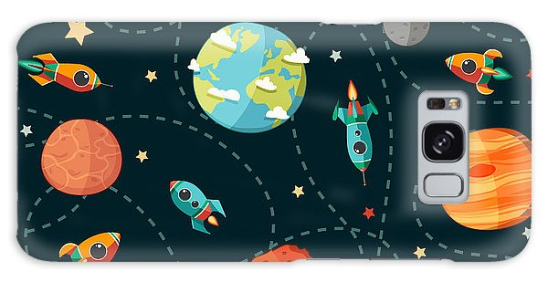 Jupiter Galaxy Case - Seamless Space Pattern. Planets by Motuwe
