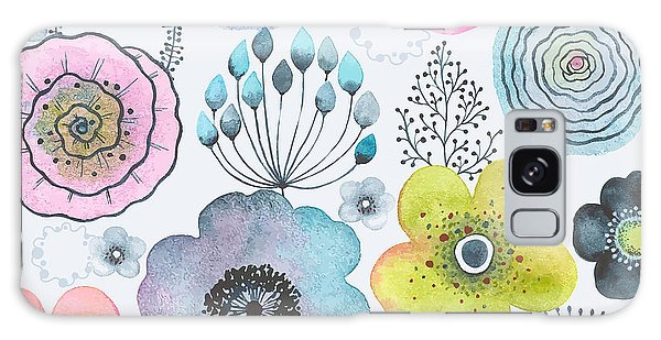 Branch Galaxy Case - Seamless Watercolor Abstraction Floral by Nikiparonak