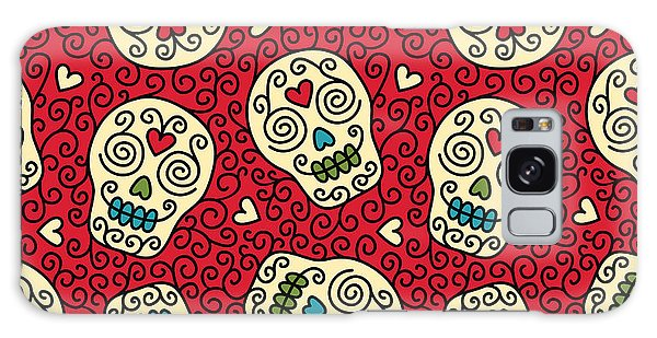 Mexican Galaxy S8 Case - Seamless With Mexican Skulls by Rvvlada