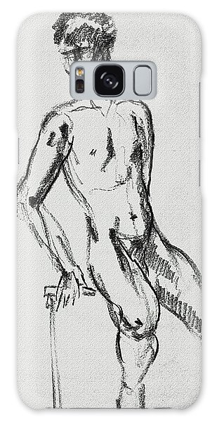 Sitting Nude Galaxy Case - Seated Male Model Study Gesture Xxi by Irina Sztukowski