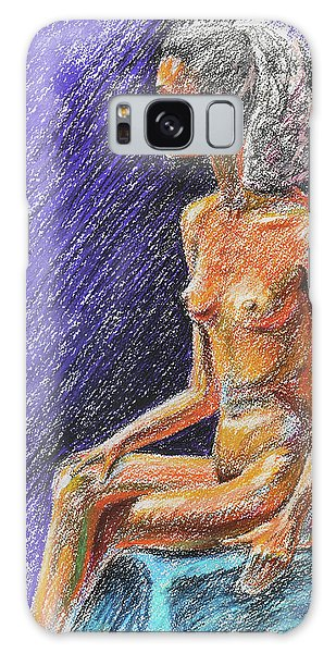 Sitting Nude Galaxy Case - Seated Nude Model Study In Pastel  by Irina Sztukowski