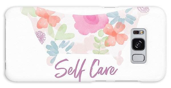 Galaxy Case featuring the mixed media Self Care- Art By Linda Woods by Linda Woods