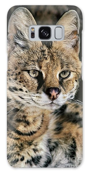 Serval Portrait Wildlife Rescue Galaxy Case