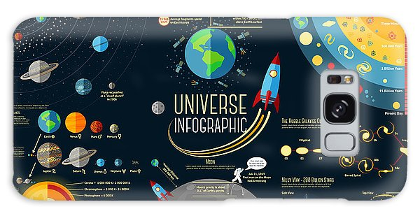 Spaceship Galaxy Case - Set Of Universe Infographics - Solar by Tashal