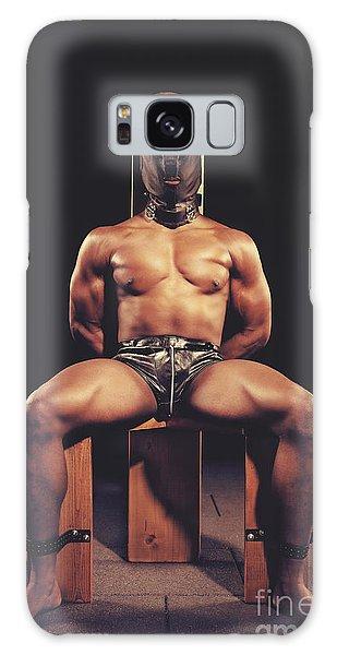 Sexy Man Tiedup On A Bdsm Chair Galaxy Case