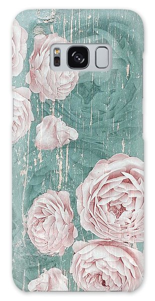 Shabby Chic Roses Distressed Galaxy Case