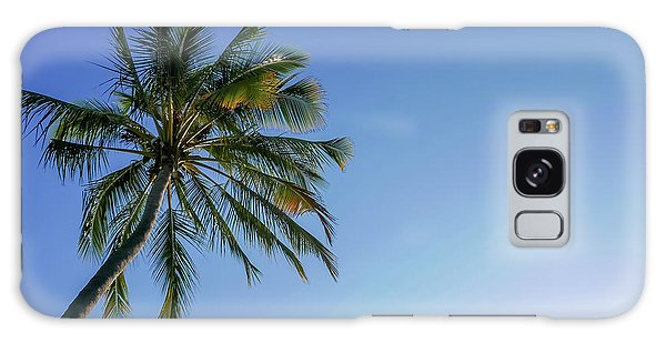 Shades Of Blue And A Palm Tree Galaxy Case