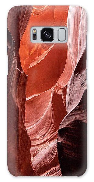 Shades Of Orange, Lower Antelope Canyon, Az Galaxy Case