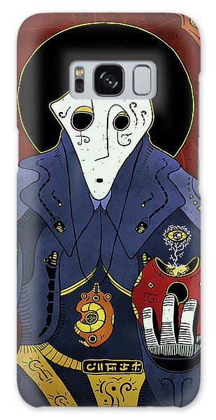 Galaxy Case featuring the painting Shadow Priest by Sotuland Art