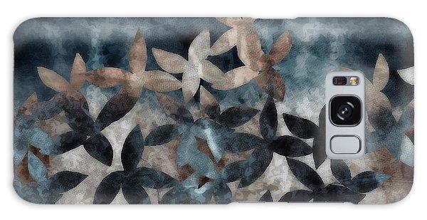 Shibori Leaves Indigo Print Galaxy Case