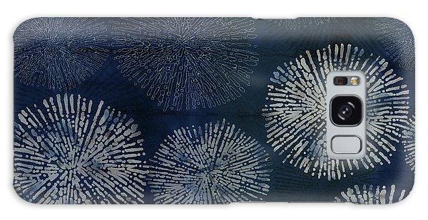 Shibori Sea Urchin Burst Pattern Dark Denim Galaxy Case