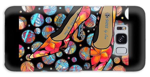 Shoes By Joan - Frangipani Pattern Pumps Galaxy Case