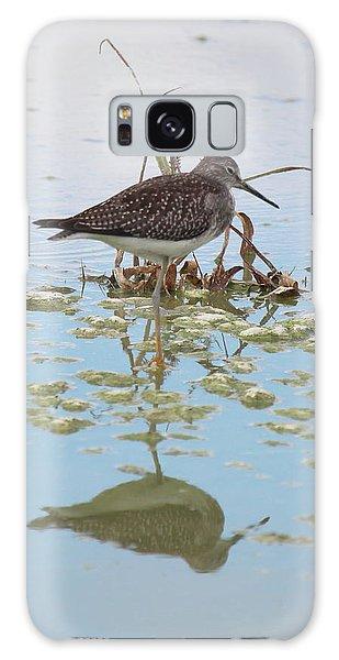 Shorebird Reflection Galaxy Case