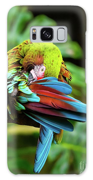 Shy Parrot Galaxy Case
