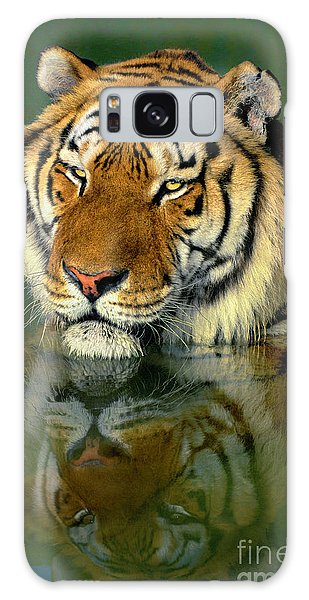 Siberian Tiger Reflection Wildlife Rescue Galaxy Case