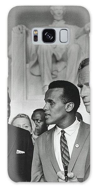 March On Washington Galaxy Case - Sidney Poitier, Harry Belafonte, And Charleton Heston - March On by N A R A