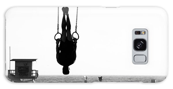 Horizontal Galaxy Case - Silhouette Of A Person Swinging On by Celso Diniz
