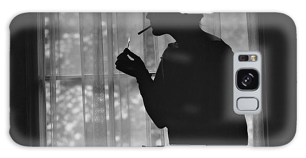 United States Galaxy Case - Silhouette Of A Stylish Women Smoking by Everett Historical