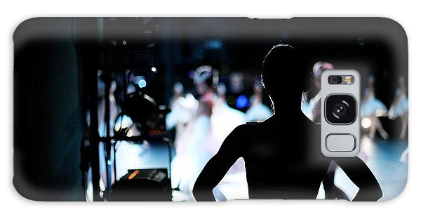 Active Galaxy Case - Silhouette Of Ballerina On Background by Anna Jurkovska