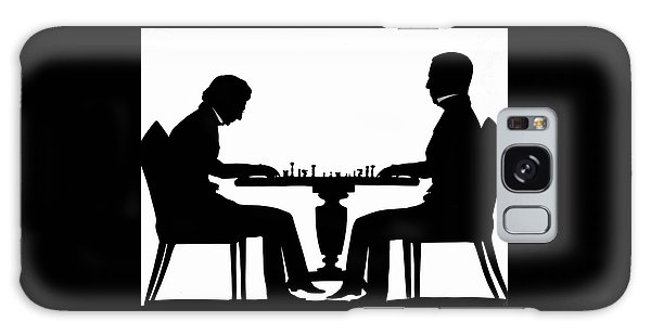 Silhouette Of Chess Players, Around 1845 Galaxy Case