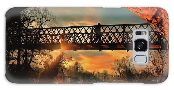 Galaxy Case featuring the photograph Silhouettes And Shadows by Leigh Kemp
