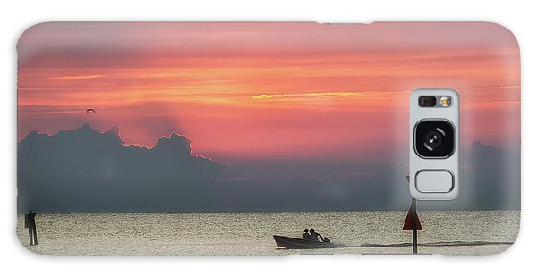 Galaxy Case featuring the photograph Silhouette's Sailing Into Sunset by Nathan Bush