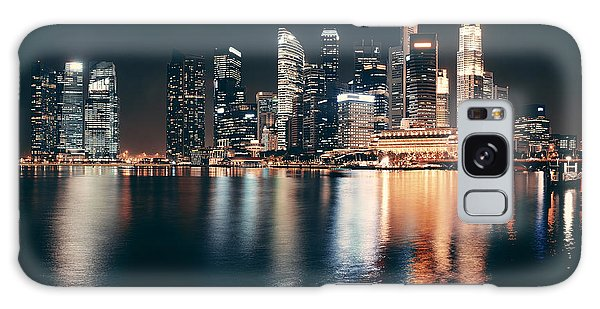 Marina Galaxy Case - Singapore Skyline At Night With Urban by Songquan Deng