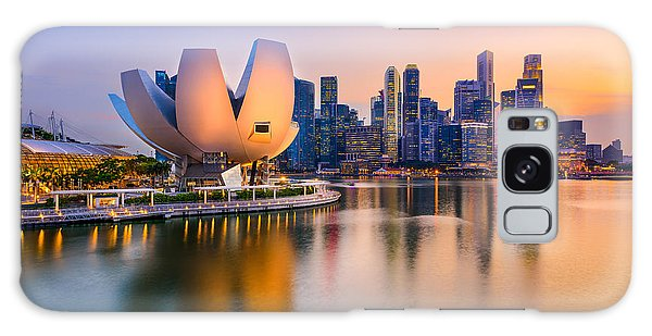 Marina Galaxy Case - Singapore Skyline At The Marina During by Sean Pavone