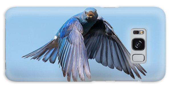Bluebird Galaxy Case - Singing Wings by Mike Dawson