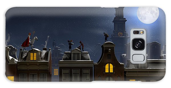 Horizontal Galaxy Case - Sinterklaas And The Pieten On The by Sara Winter