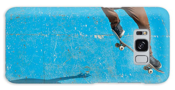 Active Galaxy Case - Skateboarder Doing A Skateboard Trick - by Pio3