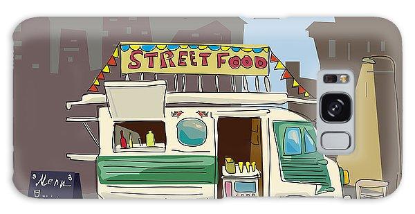 Motor City Galaxy Case - Sketch Car Street Food, City, Cartoon by Valeri Hadeev