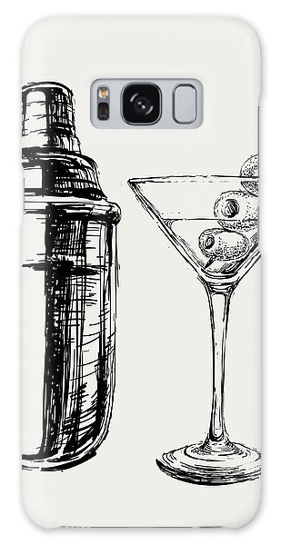 Martini Galaxy Case - Sketch Martini Cocktails With Olives by Mazura1989