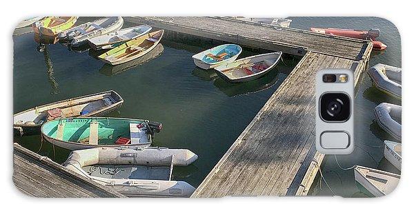 Skiffs In Rockland Harbor Galaxy Case