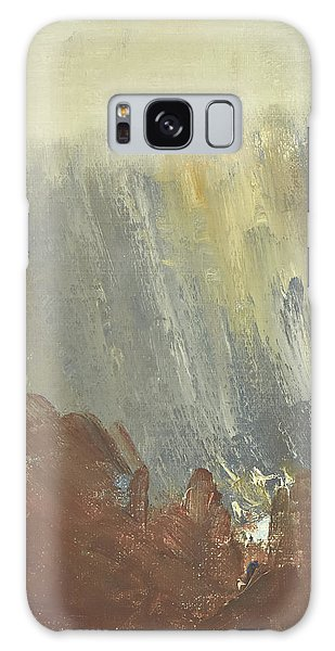 Skogklaedd Fjaellvaegg I Hoestdimma- Mountain Side In Autumn Mist, Saelen _1237, Up To 90x120 Cm Galaxy Case