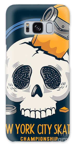 Death Galaxy Case - Skull, Skateboard, Vector Design Work by Braingraph