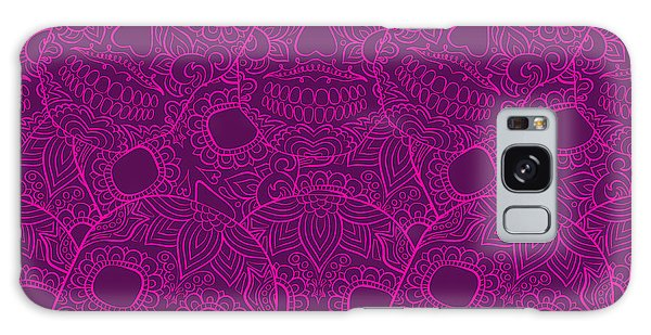 Mexican Galaxy S8 Case - Skulls Seamless Pattern by Lunarus