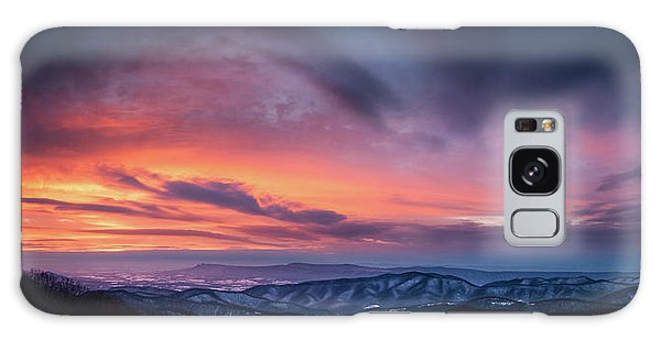 Skyline Drive Sunset Galaxy Case