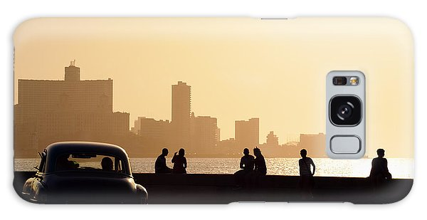 Travel Destinations Galaxy Case - Skyline In La Habana, Cuba, At Sunset by Diego Cervo