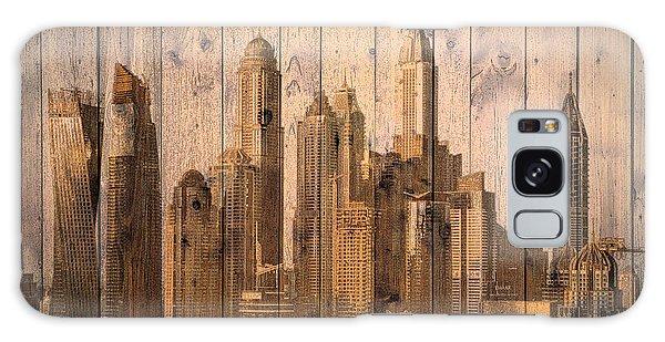 Skyline Of Dubai, Uae On Wood Galaxy Case