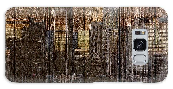 Skyline Of Los Angeles, Usa On Wood Galaxy Case