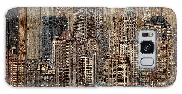Skyline Of New York, Usa On Wood Galaxy Case