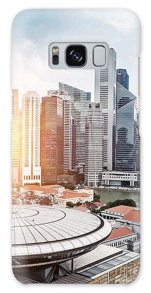 Marina Galaxy Case - Skyline Of Singapore Business District by Zhu Difeng