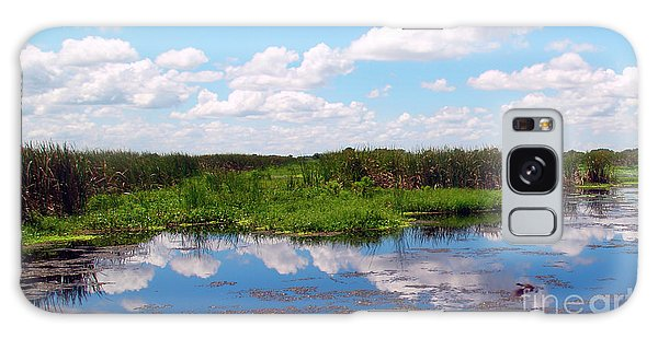 Skyscape Reflections Blue Cypress Marsh Near Vero Beach Florida C6 Galaxy Case