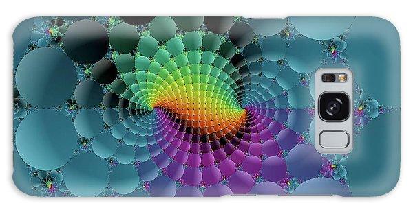 Slate Blue Fractal Galaxy Case